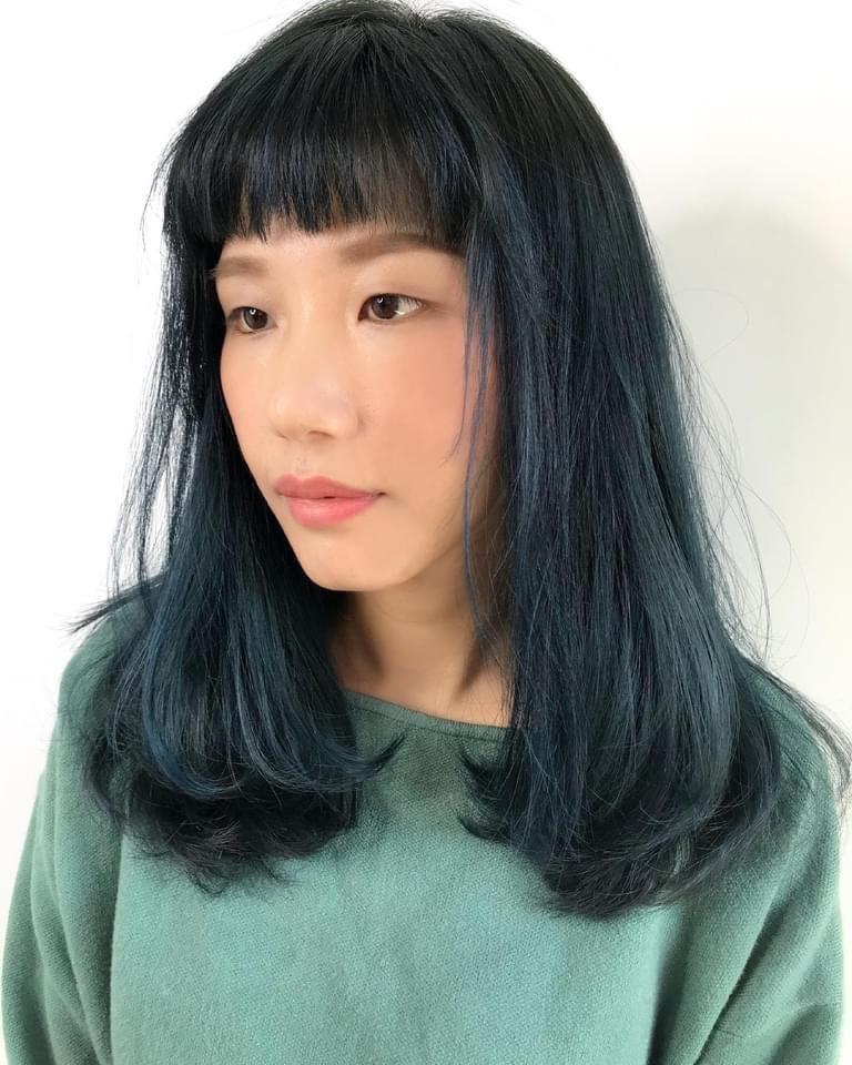燙髮尾優點2-輕鬆打理,燙髮尾層次低,不擔心層次太高和毛毛躁躁