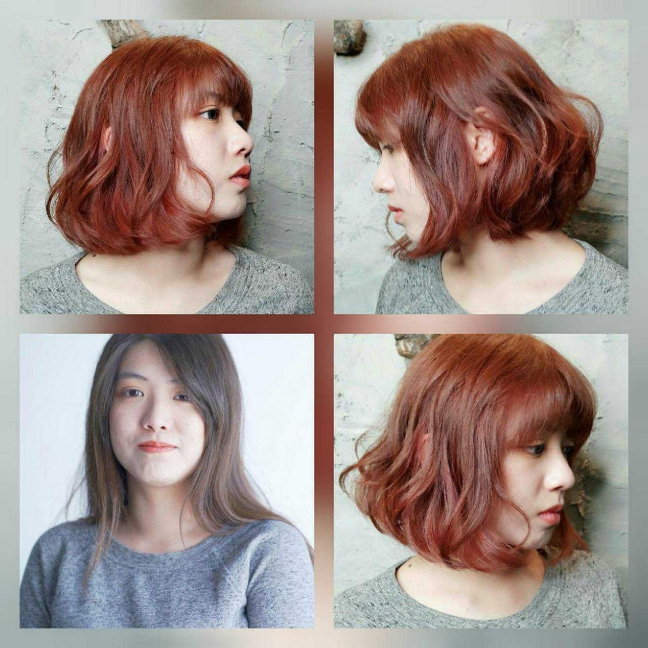 短髮捲髮-髮尾水波燙-日系慵懶感 台中COLOR